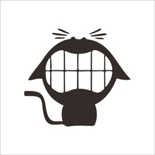 cartoon funny laughing cat toilet black vinyl decals for hotels shop bathrooms wall art decor diy stickers