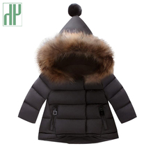 Toddler Girls winter coat kids parka Thick Coats infant children clothing Faux fur collar hooded baby outerwear 1 3 4 5 6 years