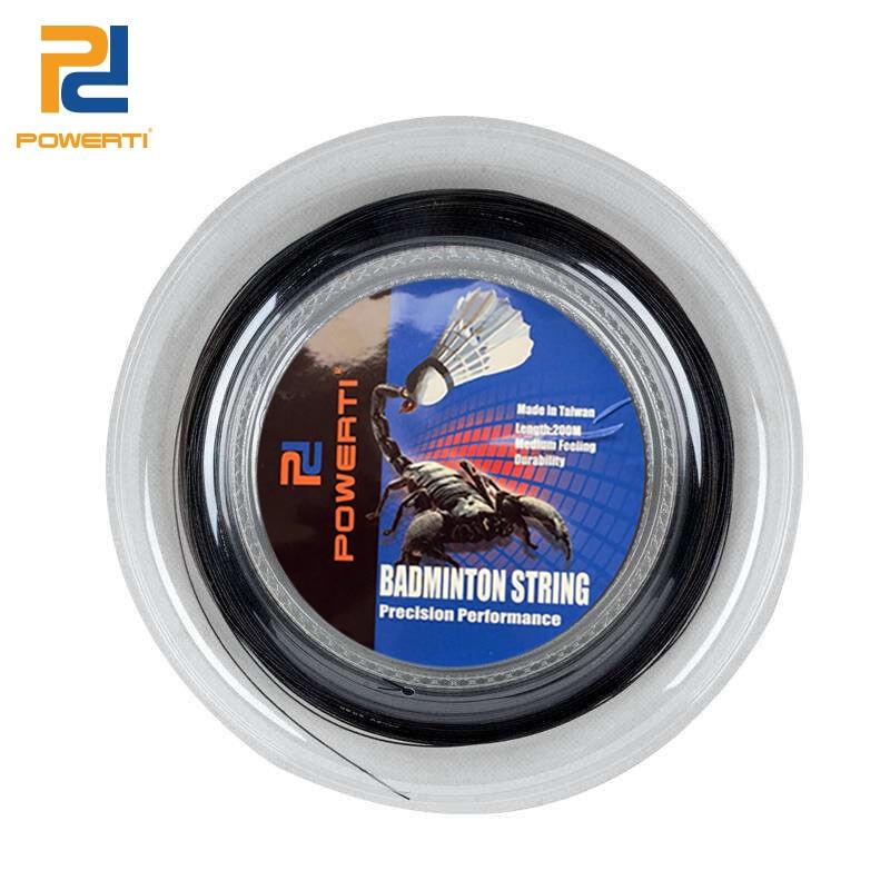 POWERTI 0 7mm Badminton Racket String 200m Reel Trainging String Sport Outside Black Yellow Badminton String