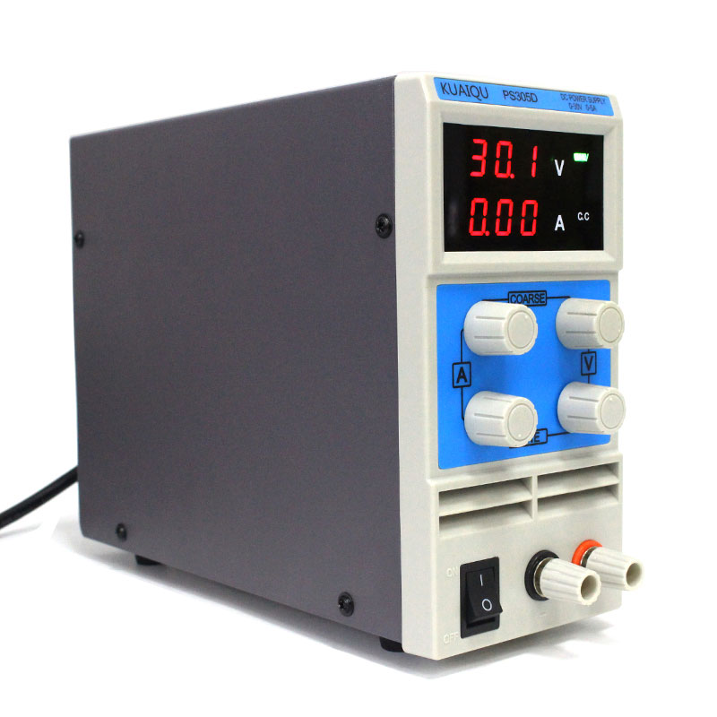 30V 5A Blue Portable Adjustable DC Power Supply Laboratory Equipment Maintenance Power Supplies Power Supplies kuaiqu high precision adjustable digital dc power supply 60v 5a for for mobile phone repair laboratory equipment maintenance