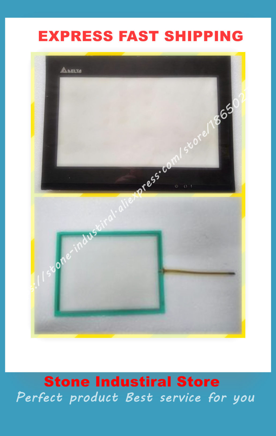 все цены на DOP-B10S615 DOP-B10E615 HMI Touch Screen 10 inch touch glass with film protective for Assembly New a set