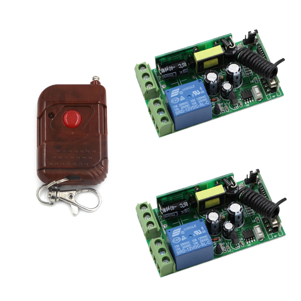 AC 85V-250V 1CH Relay Wireless Remote Control Switch Remote ON/OFF Receiver Transmitter For Light Lamp Curtain Motor Pump 220v ac 10a relay receiver transmitter light lamp led remote control switch power wireless on off key switch lock unlock 315433