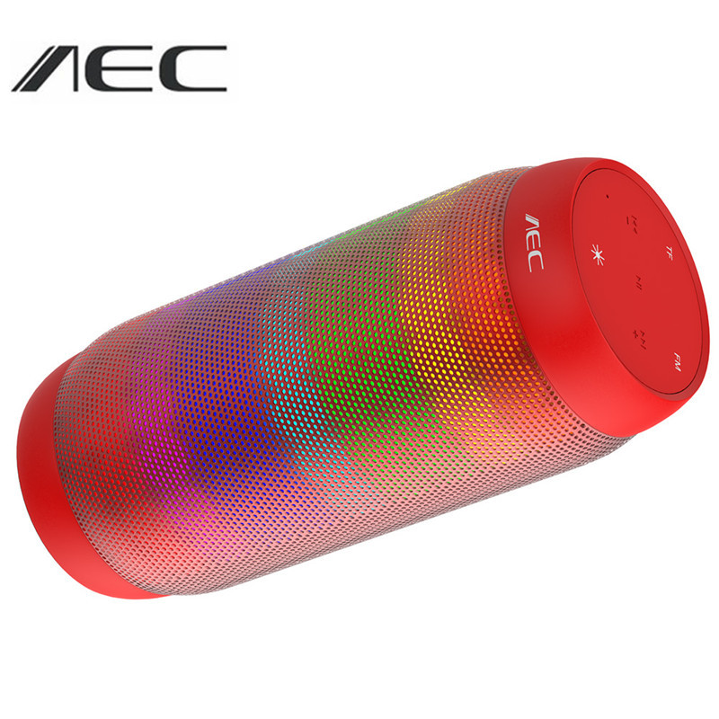 Original AEC Stereo Wireless LED Bluetooth Speaker Support TF Card FM Radio NFC Super Bass Sound Box Portable Bluetooth Speaker portable bluetooth speaker wireless outdoor stereo bass sound hifi loudspeaker 20w high power big speaker with tf card fm radio