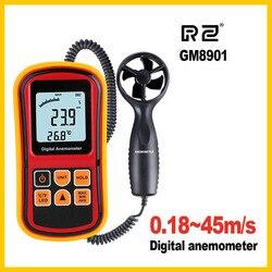 GM8901 Анемометр Скорость Ветра gaugeтемпература измерения цифровой 45 м/с термометр