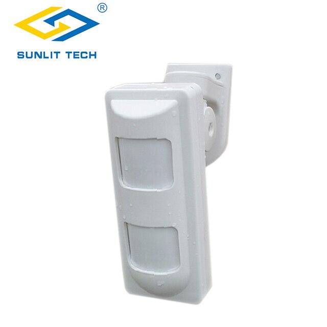 2pcs Wired Dual Pir Microwave Motion Sensor Detector Outdoor Waterproof Pet Friendly Wide Angle
