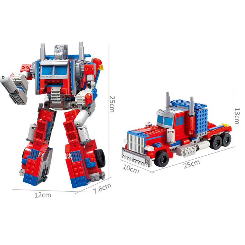StZhou Toys For Children 1 Set Kazi Transformation Robot Building Blocks Toy Christmas Gifts Toys Compatible Autobots Movie 7 pcs set with original package transformation robot cars and prime toys action figures classic toys for kids christmas gifts