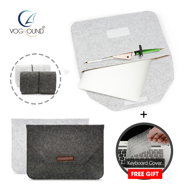 Soft Sleeve Bag For Apple Macbook Xiaomi HP Lenovo Dell Air Pro Retina 11 12 13 15 Laptop Case 13.3 inch + Gift Keyboard Cover