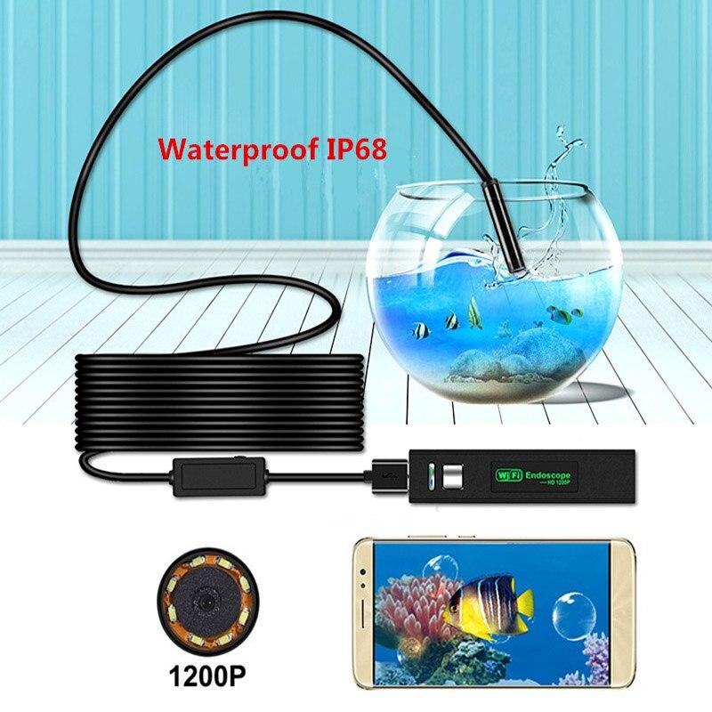 Endoskope 15 M Hd Usb Wifi Endoskop Mit Eine Wasserdichte Schlange Kamera Für Android Und Ios Smartphone Neue Werkzeuge