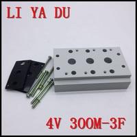 300M 3F 4v310 4v320 4v330 magnetventil zubehör Elektromagnetische ventil zusammenfluss platte zusammenfluss basis-in Pneumatische Teile aus Heimwerkerbedarf bei