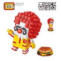 LOZ Clown MDonald Ronald Humburger Mini Building Blocks 249pcs Brick Head Figure Toy Gift For Children Ages 6+Offical Authorized