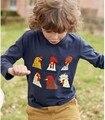 R034 2017 Primavera Bebê Menino Top Sólida Galo Animal Pullover Casual Boy Camiseta Crianças Roupas do Menino Da Criança