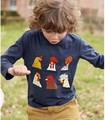 R034 2017 Spring Baby Boy Top Solid Animal Cock Toddler Boy Pullover Casual Boy T Shirt Children Clothes