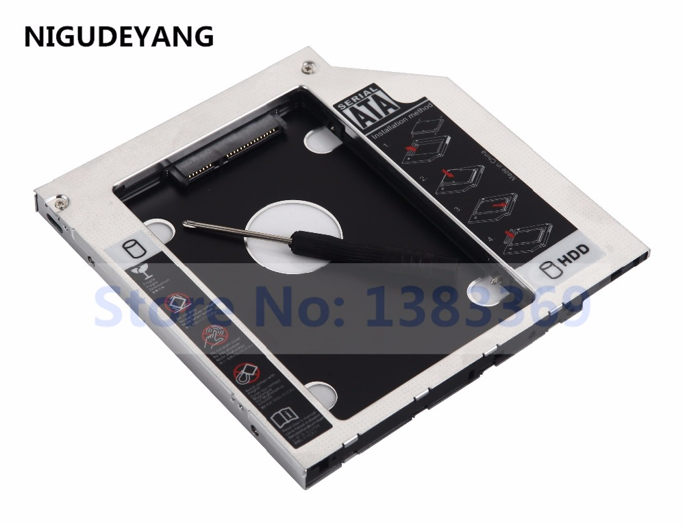 NIGUDEYANG 2nd HD SSD Hard Drive Caddy for Lenovo Ideapad p400 Z500t Z510 Z510t GU70N