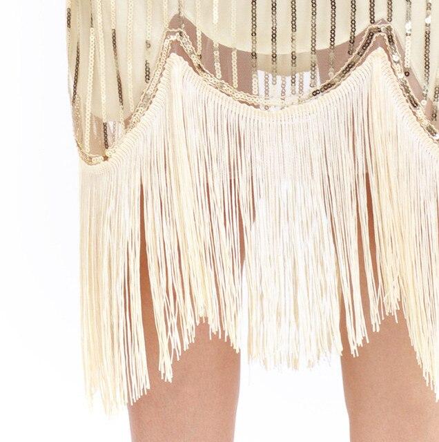 Hot Sale Women Vintage 1920s Bead Fringe Sequin Lace Party Flapper Dresses Ladies Vestido