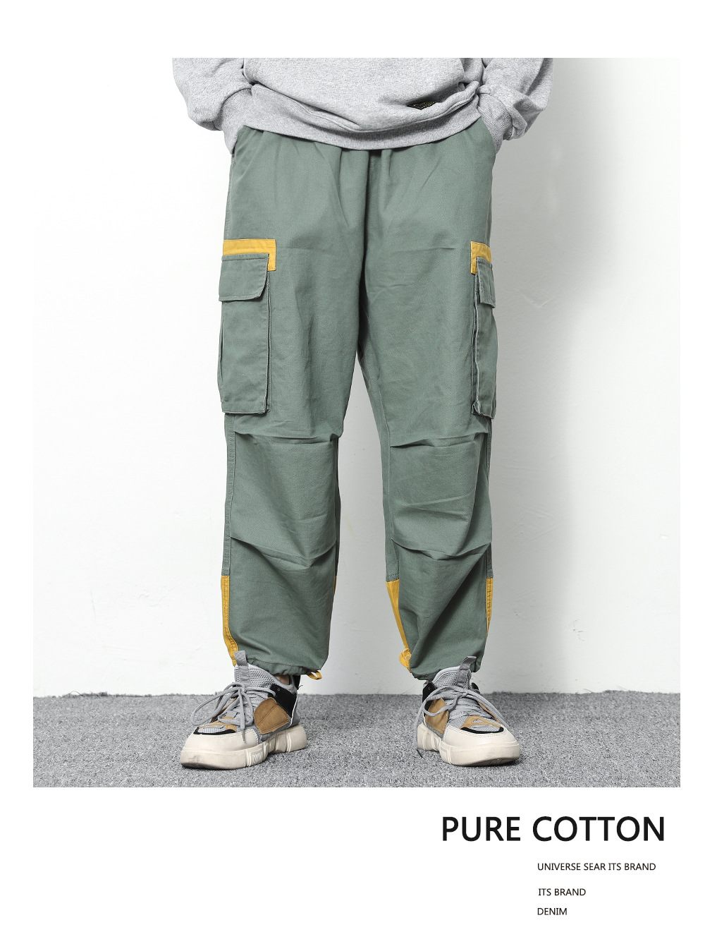 663145a0930 2018 Men Joggers Hip Hop Harem Sweat Pants Casual Loose Long Pants with  Pocket Hip Hop Army Green Teens Trousers Fashion Cool