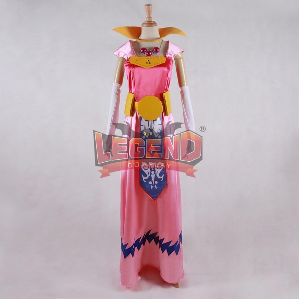 Cosplay legend The Legend of Zelda The Wind Waker Princess Zelda Cosplay adult costume Custom Made full set