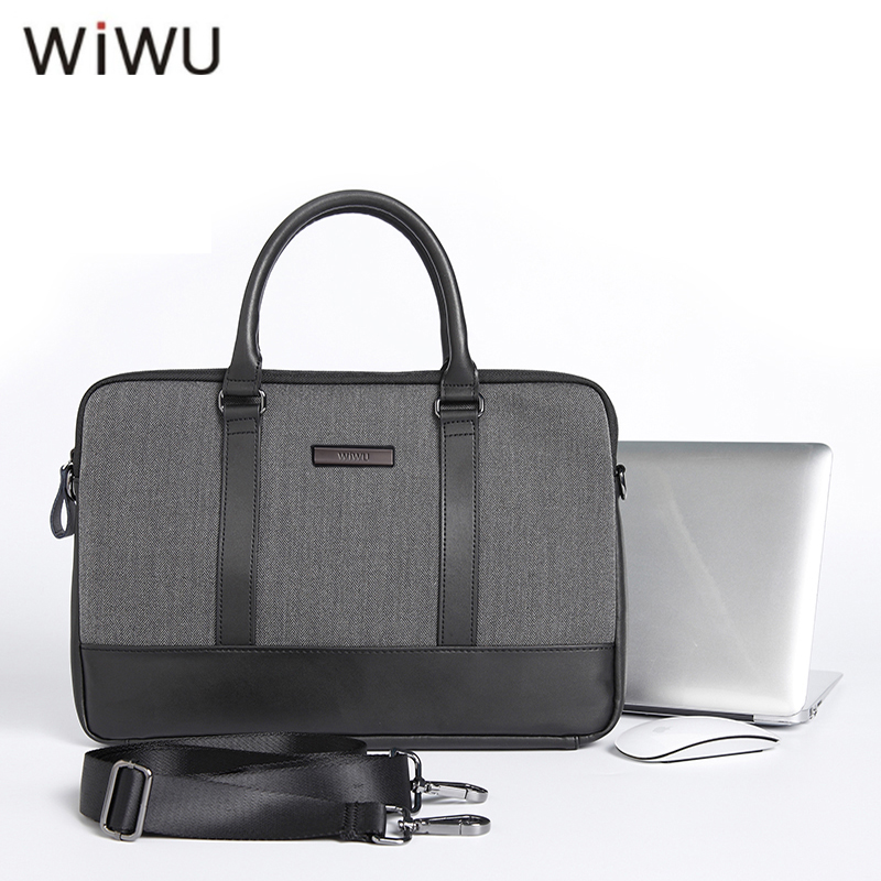 WIWU 13.3 15.4 inch Laptop Sleeve Handbag for Macbook Air 13 New Notebook Bag for Macbook Pro Retina Case With Shoulder Belt