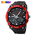 2016 New Energy Solar Watch Men's Digital Sports LED Watches Men Solar Power Dual Time Military Wristwatch Relojes Montre Homme