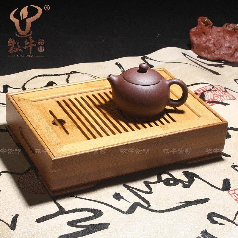 Le thé en gros stockage d'eau type 26*18*6 bambou naturel thé à thé kung fu kung fu petit plateau de thé en bambou mélange