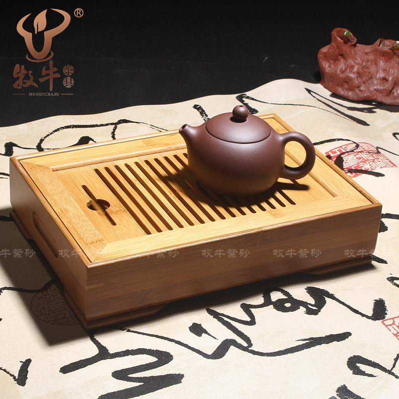The tea wholesale water storage type 26*18*6 natural bamboo teaboard kung fu kung fu tea small bamboo tea tray mixed batch yixing kung fu tea set bamboo tea tray luxuries gift logo custom 54 24 5 4 store mixed batch