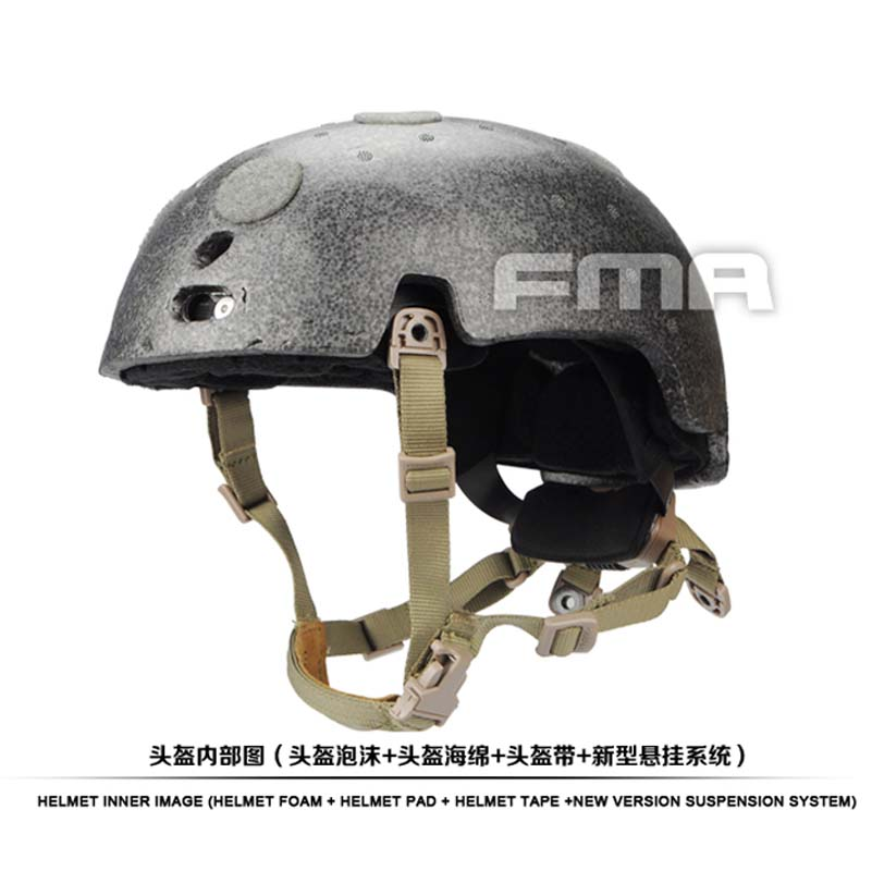 High Quality FMA New Helmet Suspension System and high level Memory Pad Foam for Ballistic helmet BK/DE/FG-in Helmets from Sports & Entertainment    1