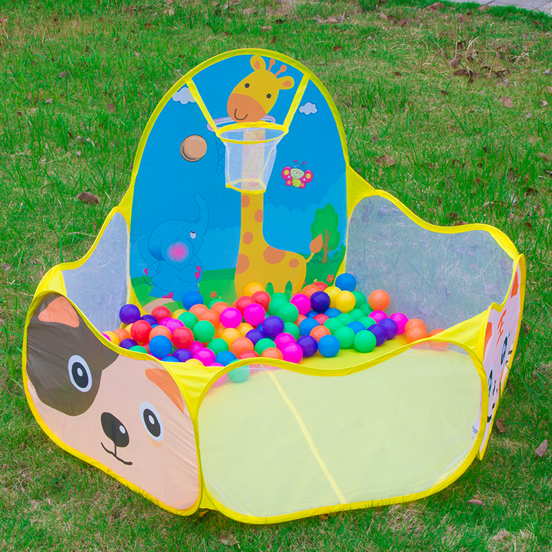 Cartoon Folding Baby Play Toy Tents Portable Hexagon Ball Pool Kids Playpen Ball Pit Outdoor Children