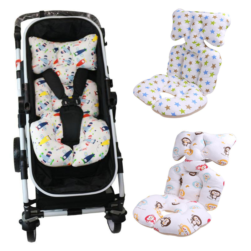 Baby Printed Stroller Pad Seat Warm Cushion Pad mattresses Pillow Cover Child Carriage Cart Thicken Pad Trolley Chair Cushion printed baby child supermarket trolley dining chair protection antibacterial safety travel portable shopping cart cushion