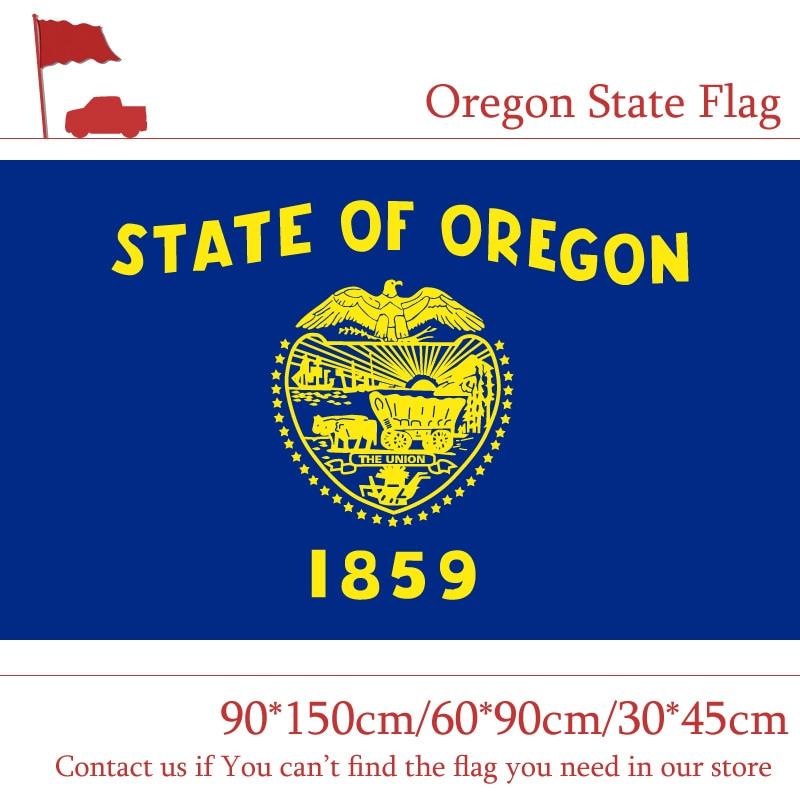 Oregon State Flag 90*150cm 60*90cm Flag USA 3*5 Ft Banner 30*45cm Car Flag