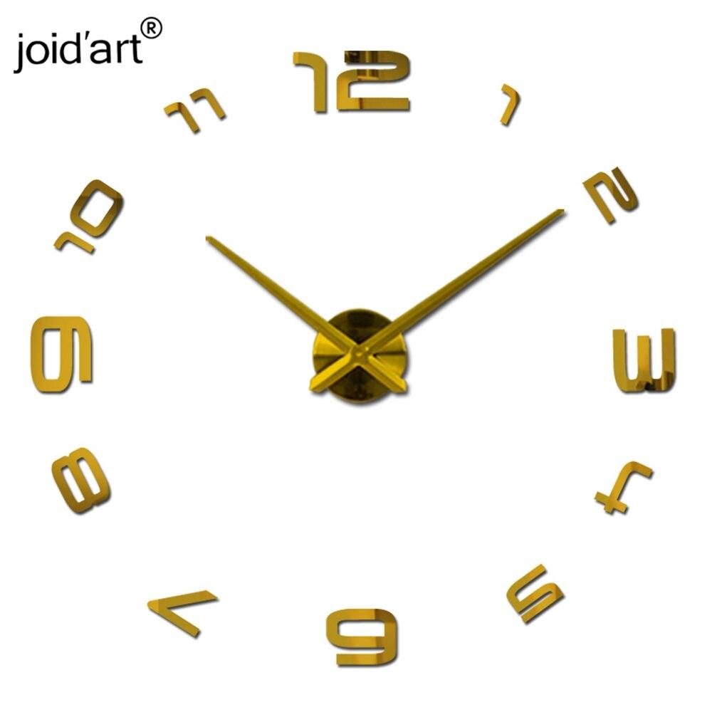 2018 HOT 3d diy Akrylové miroir nástěnné samolepky hodiny hodinky hodiny Quartz Moderní reloj de pared domácí dekorace nový