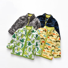 2018 New Boy Jacket Coat Autumn Winter Fleece Warm Outfits Children Outerwear Costume Baby Clothes Blazer Clothing Drop Shipping cheap preax Fashion COTTON Polyester Worsted Unisex Full REGULAR MANDARIN COLLAR ELL18070408 cartoon Fits true to size take your normal size