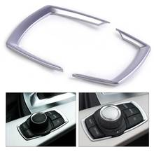 DWCX 2Pcs Interior Multimedia Switch Button Frame Cover Sequins Trim for BMW 1 2 3 4 Series 3 Series GT 2013 2014 2015 2016