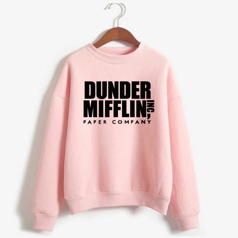 Women Dunder Mifflin Inc Paper Company Wernham Hogg TV Show Michael Scott Space Sweatshirt Tops The Office Tv Hoodie Men