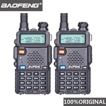 2Pcs Baofeng UV 5R UHF VHF Walkie Talkie Dual Band Two Way Radio Comunicador Car Station PTT UV-5R Woki Toki