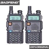 2Pcs Baofeng UV 5R UHF VHF Walkie Talkie Dual Band Two Way Radio Comunicador Car Radio Station PTT Baofeng UV 5R UV 5R Woki Toki