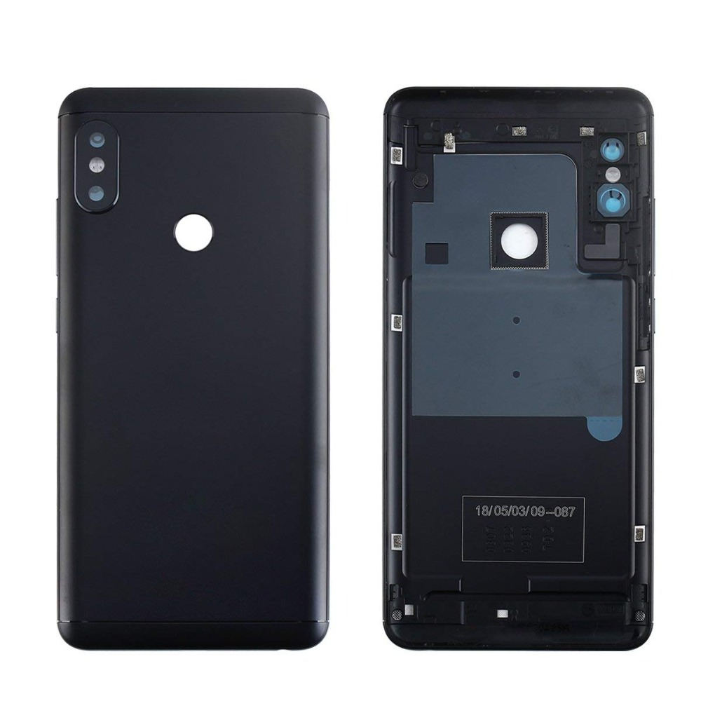 <font><b>battery</b></font> <font><b>Cover</b></font> Case for Xiaomi <font><b>Redmi</b></font> Note5 <font><b>note</b></font> <font><b>5</b></font> <font><b>pro</b></font> Aluminium <font><b>Battery</b></font> <font><b>Cover</b></font> Door Housing Side Buttons Lens Replacement Parts image