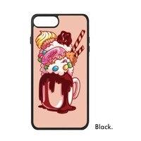 أغذية الآيس كريم حلوى المصاصة الشوكولاته بارفيه اللبن الحلو غطاء حالة الهاتف ل فون x 7/8 زائد حالات phonecase