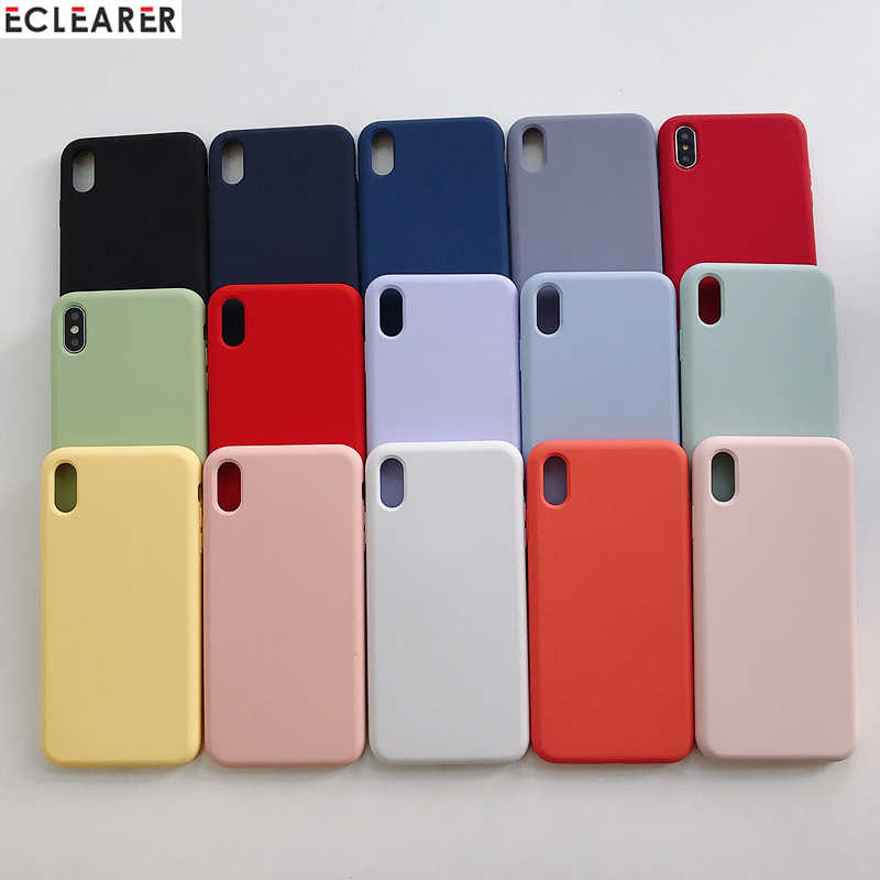 High Quality 100% Pure Liquid Silicone Case For Apple iPhone Xs Max XR X XS 6 6s 7 8 Plus 360 Full Protection Back Case Cover