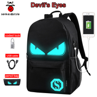 Raged Sheep Boys School Backpacks Middle school Bags Teenagers USB Luminous Anti theft Backpacks Men Bags student back to school