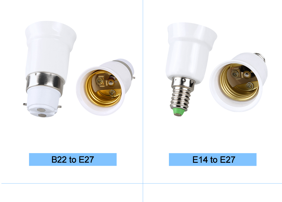 lamp holder base E27 to E14 B22 (1)