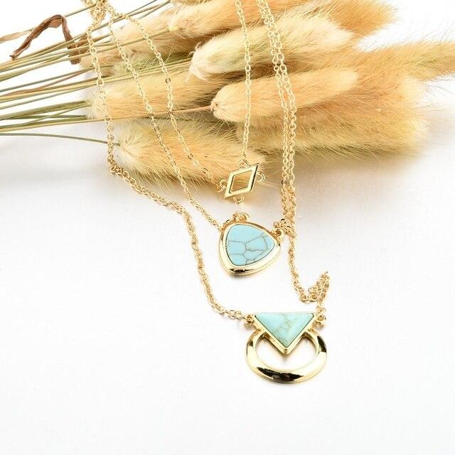 Chicvie каменное винтажное ожерелье с подвеской ювелирные изделия