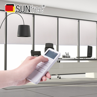 Sunfree High Quality Motorized Blinds Rechargeable Motor Electric Roller Shade Motorized Rolling Blinds include remote control