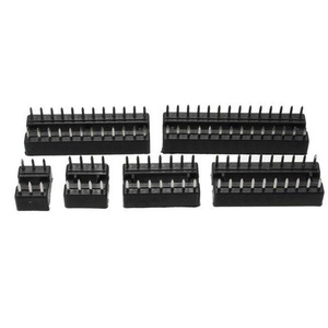 Image 5 - 66PCS IC Socket DIP6 DIP8 DIP14 DIP16 DIP18 DIP20 DIP24 DIP28 Pin Integrated Circuit Adaptor Solder Type Socket Kit Narrow