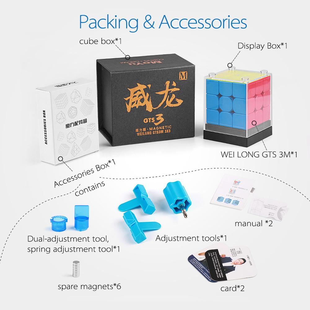 LeadingStar MoYu Weilong GTS 3M Magnetic Magic Puzzle Cube Twist Puzzle Speed Cube Adult Kids Educational Toy Gift leadingstar moyu aochuang gts m 5x5 magnetic smart cube magic cube speed puzzle cubes educational toys for children