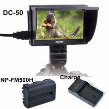 """Viltrox DC-50 Clip-on en Color TFT LCD Monitor de 5 """"HDMI AV para Canon Sony con NP-FM500H y Batería cargador"""