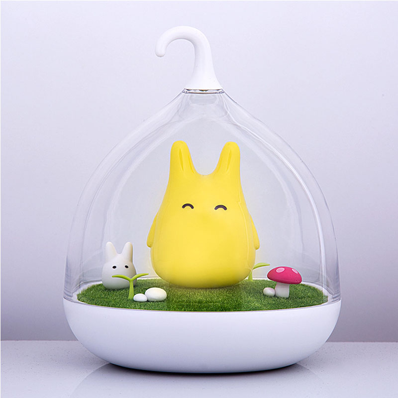 Night Light Newest Style The Totoro USB Portable Touch Sensor LED Baby Nightlight Bedside Lamp Touch Sensor Night Lamp For Kids lumiparty smart bedside lamp touch sensor led night light rgb dimmable atmosphere led lamp intelligent mood nightlight