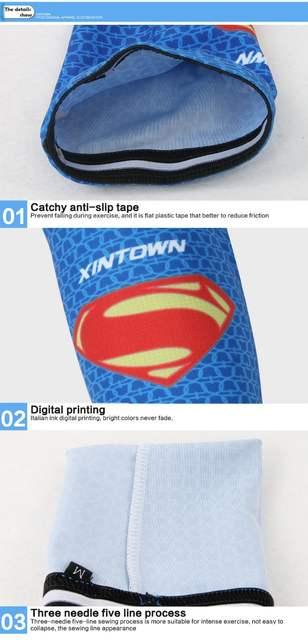 Superman Cycling Sleeves Breathable Cycling Arm UV