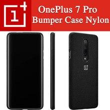 100% الأصلي OnePlus 7 برو حالة OnePlus 7 برو الوفير حالة Karbon النايلون الرسمي الغطاء الواقي