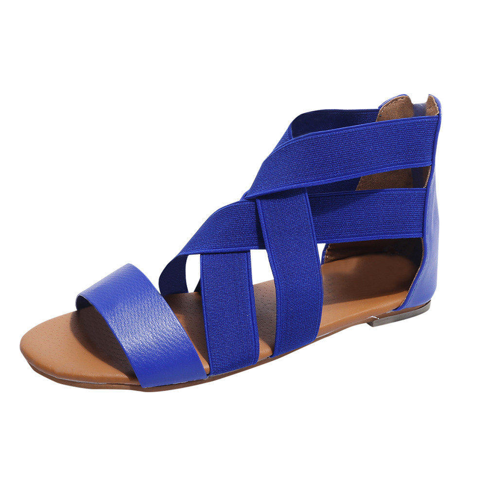 SAGACE 2018 Women Sandals Flat With Shoes Roman style Hot Fashion Lady Sandals Peep-Toe Outdoor womens summer footwear ShoesSAGACE 2018 Women Sandals Flat With Shoes Roman style Hot Fashion Lady Sandals Peep-Toe Outdoor womens summer footwear Shoes