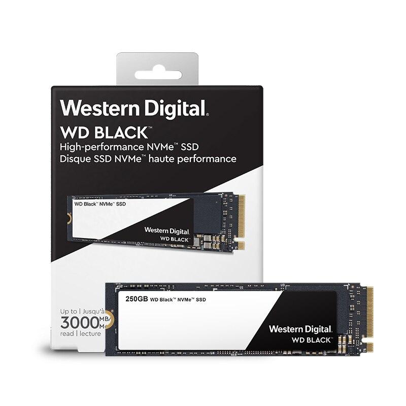 DEO SSD Noir PCIe Gen3 * 4 250 gb M.2 2280 SSD WDS250G2X0C Solide State Drive Disque 3000 mb/s pour PC Ordinateur Portable notebook
