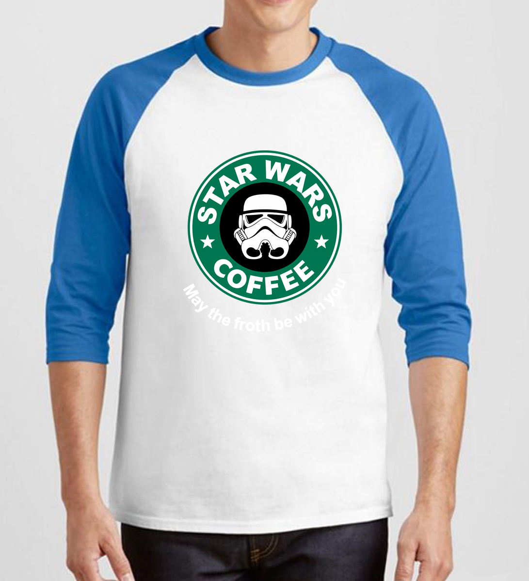 2019 star wars fitness three-quarter sleeve tee shirt homme Hip-hop  men's T-shirts fashion man cotton raglan brand clothing
